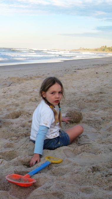 lauca on beach