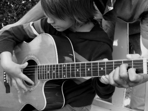 aa guitarlesson bw