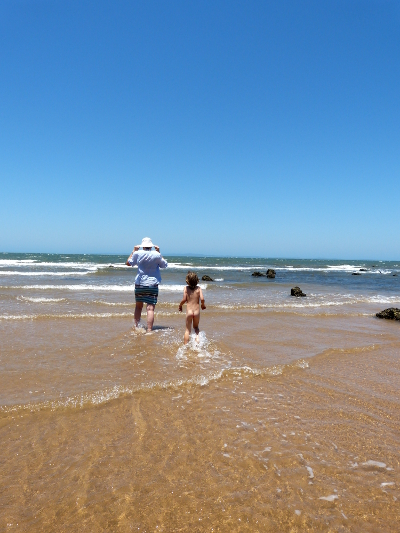 ab beach with nannie